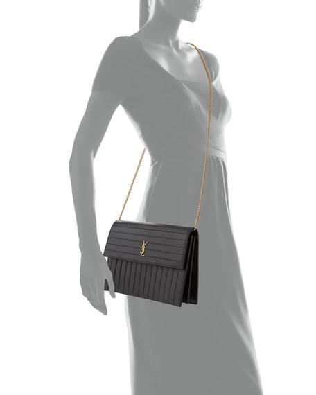 Saint Laurent Victoire Medium YSL Monogram 1/4-Flap Horizontal Crossbody Bag