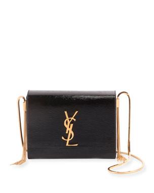 09c30eb1b4e Saint Laurent Kate YSL Boxy Flap Tassel Shoulder Bag