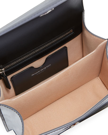 Alexander McQueen Small Antiqued Jeweled Satchel Shoulder Bag