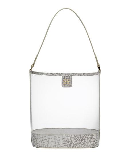 Gigi New York Virginia PVC Hobo Bag with Croco Trim
