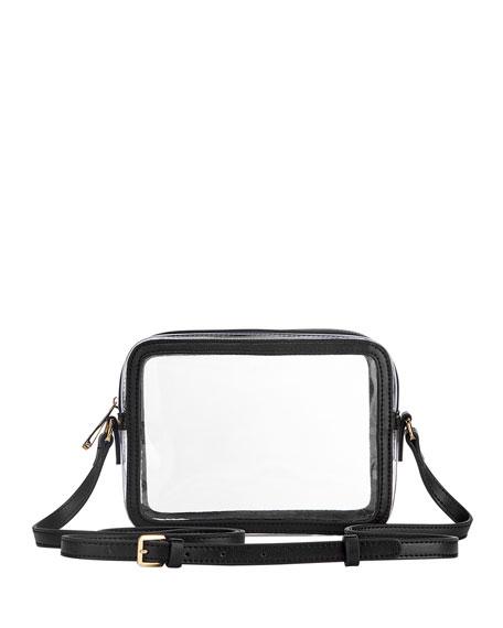 Gigi New York Collins PVC Crossbody Bag with Leather Border