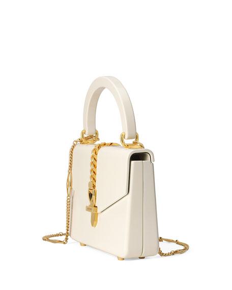 Gucci Sylvie Mini Leather Top Handle Bag