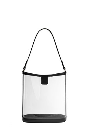 Gigi New York Virginia PVC Hobo Bag with Leather Trim