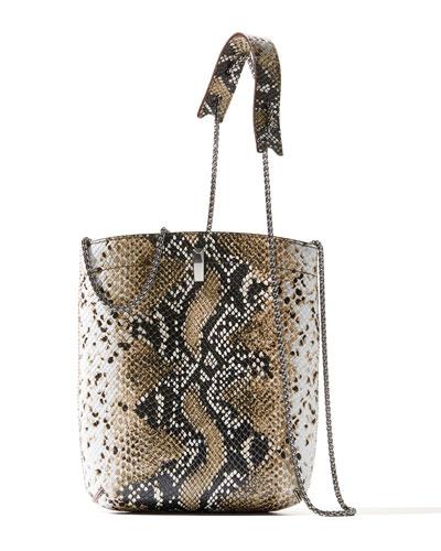EZ Carry Snake-Print Shoulder Bag