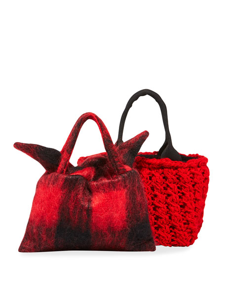MUUN Panier Rib Rita Hand-Knit Top Handle Bag