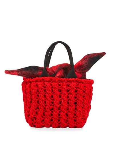 Panier Rib Rita Hand-Knit Top Handle Bag