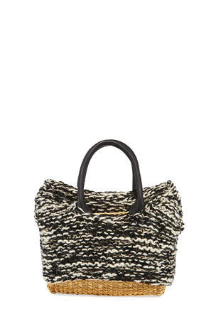 MUUN Charles Knit Woven Top Handle Bag