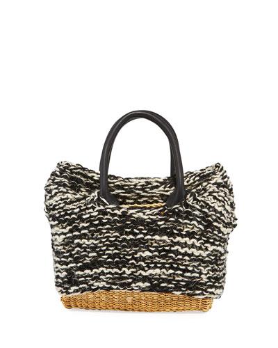 Charles Knit Woven Top Handle Bag