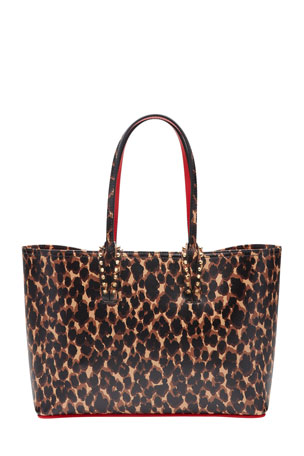 Christian Louboutin Cabata Small Calf Paris Leopard Red Sole Tote Bag