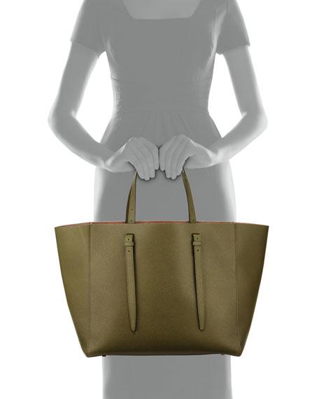 Valextra Medium Soft Leather Tote Bag