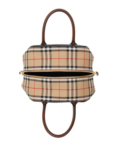 Image 2 of 5: Burberry Vintage Check and Leather Top Handle Bag