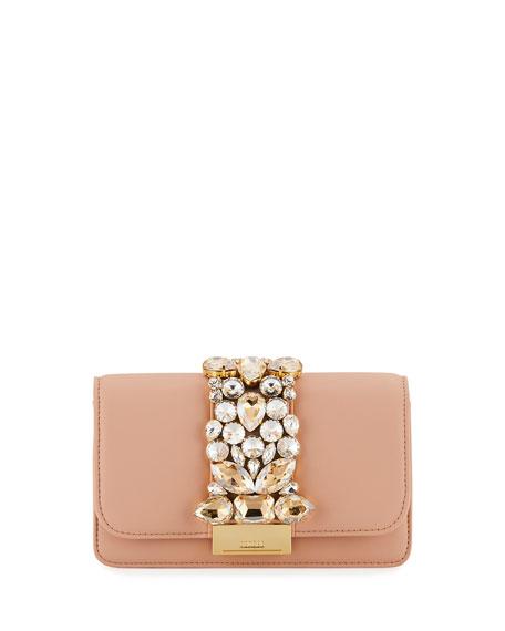 Gedebe Cliky Mini Jeweled Napa Clutch Bag