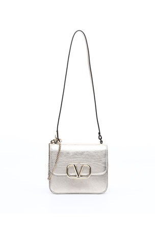 Valentino Garavani VSLING Small Metallic Vitello Shoulder Bag