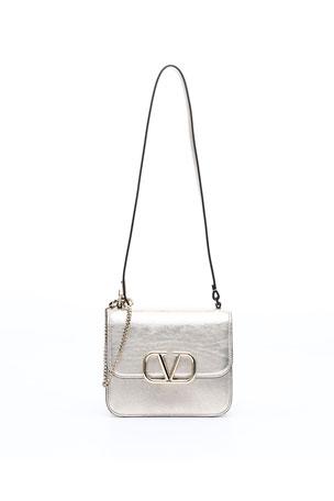 Valentino Garavani VSLING Small Metallic Vitello Shoulder Bag