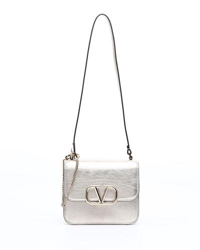 VSLING Small Metallic Vitello Shoulder Bag