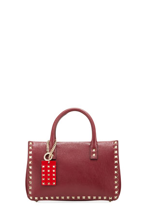 Valentino Garavani Rockstud Small Buffalo Lux Karung Top-Handle Shoulder Bag