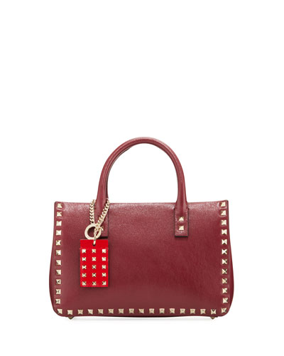 Rockstud Small Buffalo Lux Karung Top-Handle Shoulder Bag