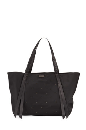 AllSaints Nilo Studded Nylon Tote Bag