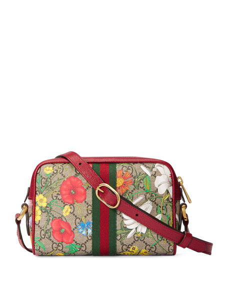 Gucci Ophidia Mini GG Flora Crossbody Bag