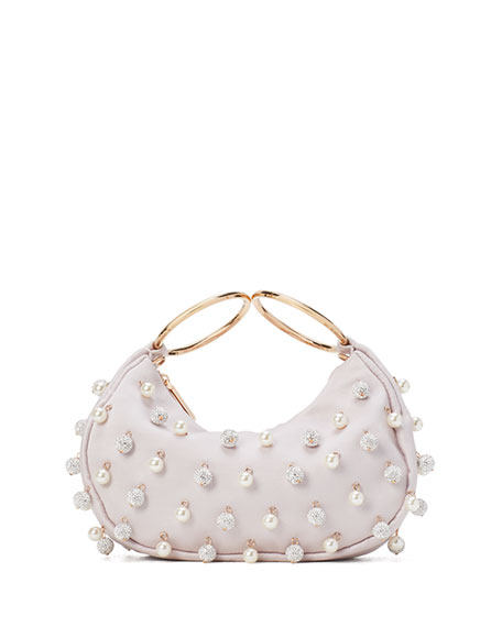 kate spade new york collins pearl pave bracelet clutch bag