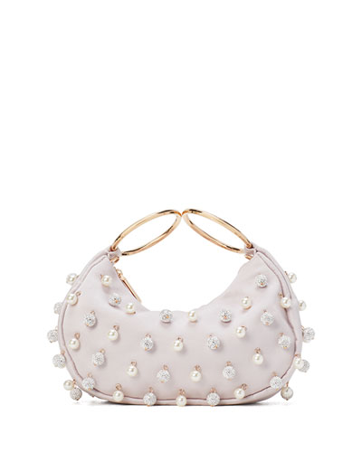 collins pearl pave bracelet clutch bag