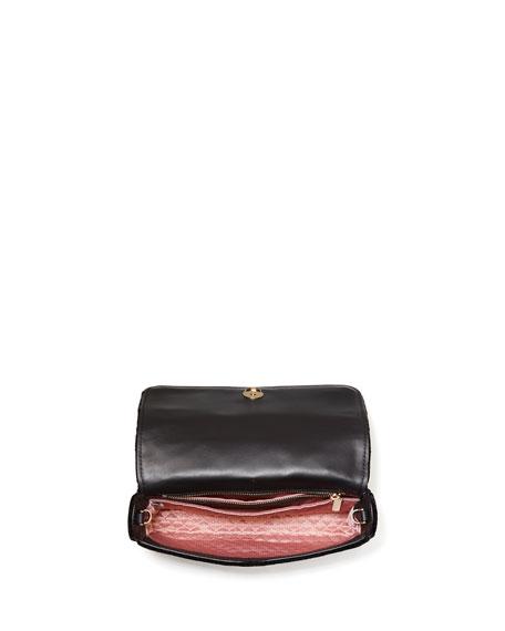kate spade new york bowie mini velvet top-handle clutch bag