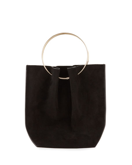 THE ROW Flat Micro Circle Bag in Suede