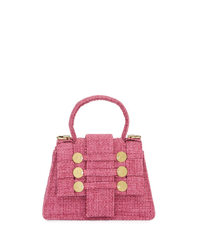 Pett Tweed Top-Handle Satchel Bag