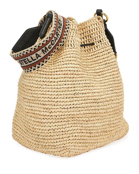Stella McCartney Mini Crochet Bucket Bag with Faux-Leather Tassels