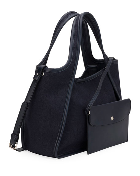 Stella McCartney Linen Logo Crossbody Tote Bag