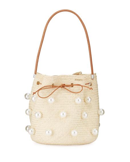Mercedes Salazar Tropics Embellished Bucket Bag