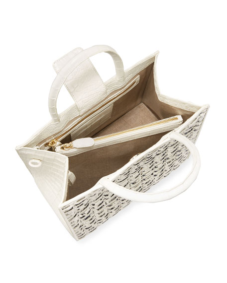 Image 2 of 4: Nancy Gonzalez Limited-Edition Emma Small Woven Tote Bag