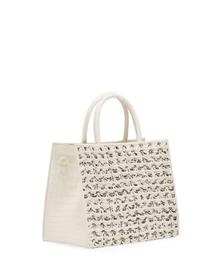 Image 3 of 4: Nancy Gonzalez Limited-Edition Emma Small Woven Tote Bag