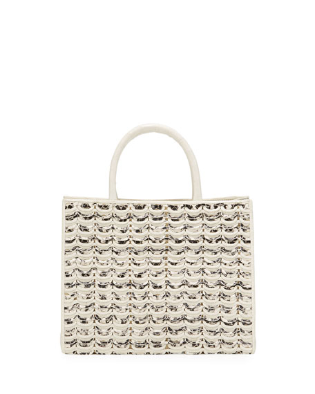 Image 1 of 4: Nancy Gonzalez Limited-Edition Emma Small Woven Tote Bag