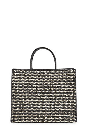 Nancy Gonzalez Emma Large Woven Crocodile Tote Bag