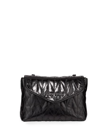 Miu Miu Small Vitello Shine Shoulder Bag