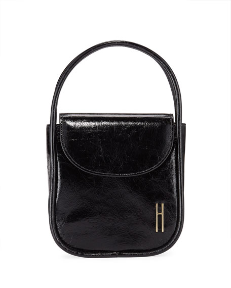 Image 1 of 4: Lucy Top-Handle Bag in Crinkle Leather
