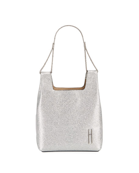 Hayward Mini Metallic Chain-Handle Tote Bag