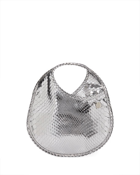 Hayward Teardrop Mini Python Pouch Clutch Bag