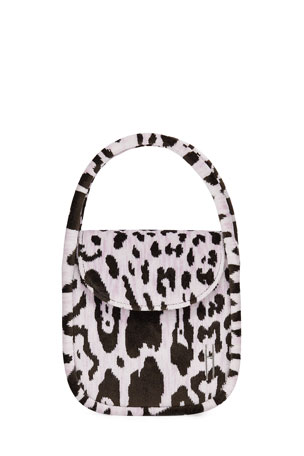 Hayward Lucy Top-Handle Bag in Leopard Brocade