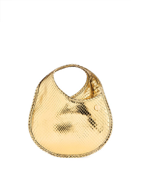 Hayward Teardrop Mini Python Pouch Clutch Bag