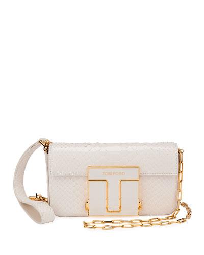 T-Clasp Mini Python Crossbody Bag