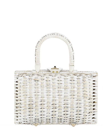 Flora Bella Lahaina Beaded Straw Clutch with Shells