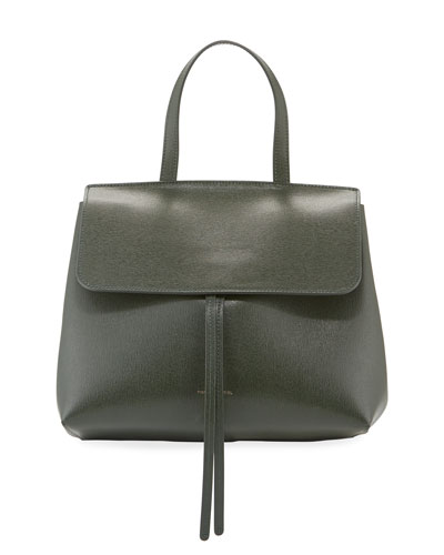 Mini Lady Saffiano Satchel Bag
