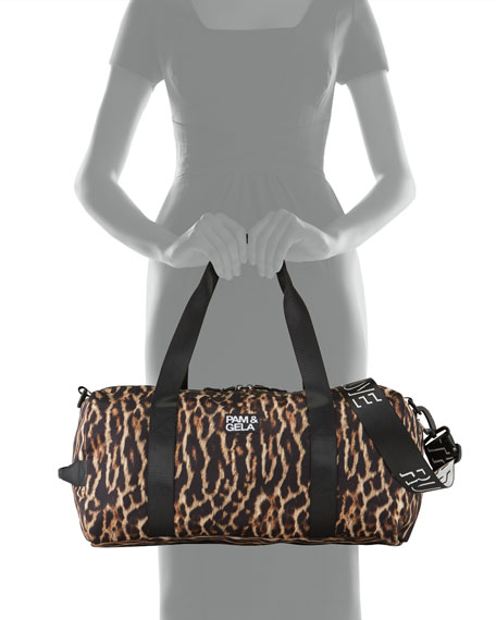 Pam & Gela Natural Ocelot Duffel Bag