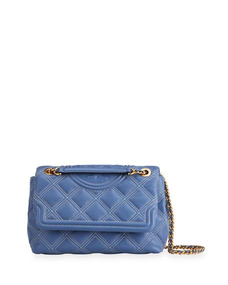 Tory Burch Fleming Soft Contrast Stitch Convertible Shoulder Bag