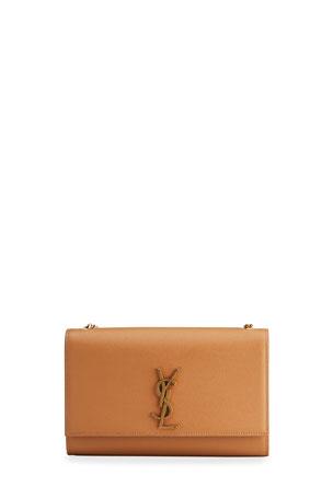 Saint Laurent Kate Monogram YSL Medium Grain de Poudre Chain Bag