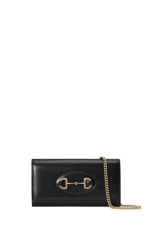 Gucci 1955 Horsebit Leather Chain Wallet
