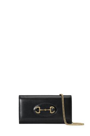 Gucci 1955 Horsebit Leather Chain Wallet