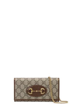 Gucci 1955 Horsebit GG Supreme Canvas Chain Wallet